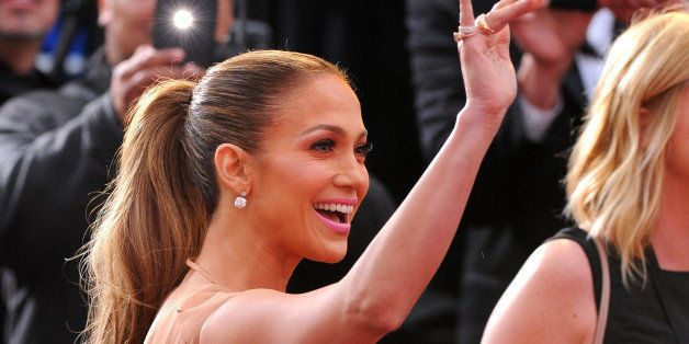 Jennifer Lopez arrives at the Oscars on Sunday, Feb. 22, 2015, at the Dolby Theatre in Los Angeles. (Photo by Vince Bucci/Inv