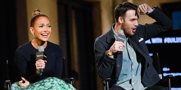 "Actors Jennifer Lopez and Ryan Guzman attend AOL's BUILD Speaker Series to discuss their upcoming film ""The Boy Next Door"" at"