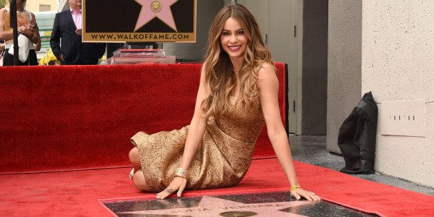 HOLLYWOOD, CA - MAY 07:  Actress Sofia Vergara is honored on The Hollywood Walk Of Fame on May 7, 2015 in Hollywood, Californ