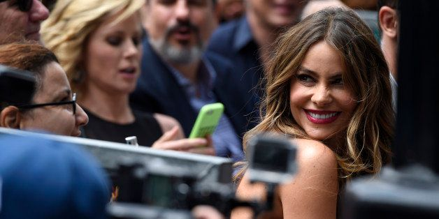 Sofia Vergara attends a ceremony where she is awarded a star on the Hollywood Walk of Fame on Thursday, May 7, 2015, in Los A