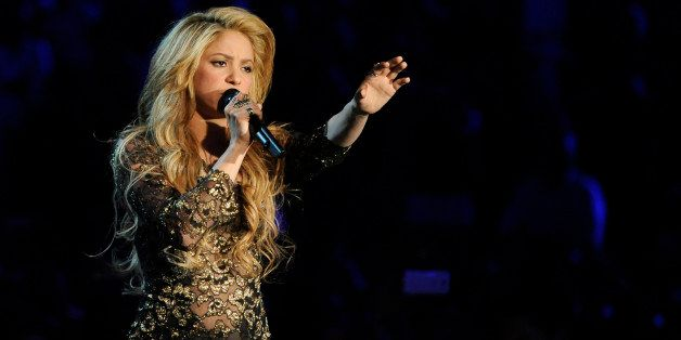 Shakira performs on stage at the Billboard Music Awards at the MGM Grand Garden Arena on Sunday, May 18, 2014, in Las Vegas.