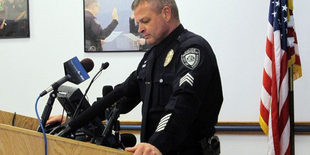 Kennewick Police Sgt. Ken Lattin talks to reporters, Wednesday, Feb. 25, 2015 about the investigation of the fatal police sho