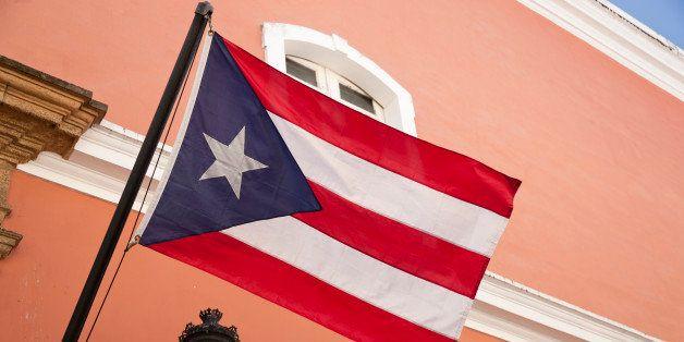 Puerto Rican flag in Old San Juan