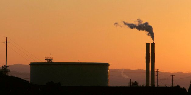 The Conoco Oil Refinery, in Rodeo, Calif. is seen at sunset,  in file photo taken Friday, Sept. 22, 2006. In 2006 the state l