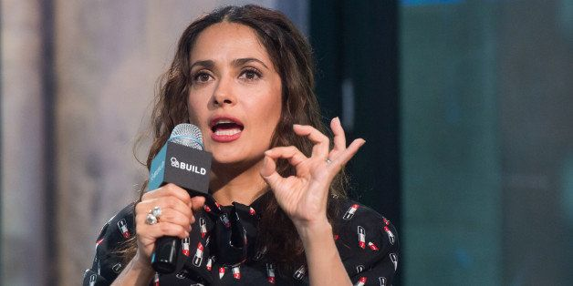 "Salma Hayek participates in AOL's BUILD Speaker Series to discuss her new film, ""Kahlil Gibran's The Prophet,"" at AOL Studios"