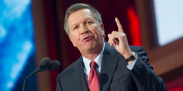 UNITED STATES - AUGUST 28: Ohio Gov. John Kasich speaks at the 2012 Republican National Convention at the Tampa Bay Times For