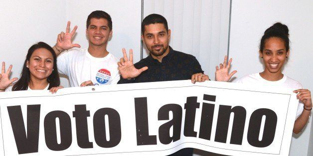 MIAMI, FL - SEPTEMBER 23: Wilmer Valderrama with Voto Latino promotes National Voter Registration Day at Miami Dade College a
