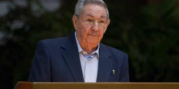 Handout picture of Cuban official website www.cubadebate.cu, showing President Raul Castro giving a speech during the opening