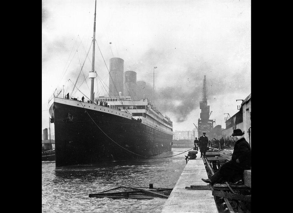 Titanic at the docks of Southampton.