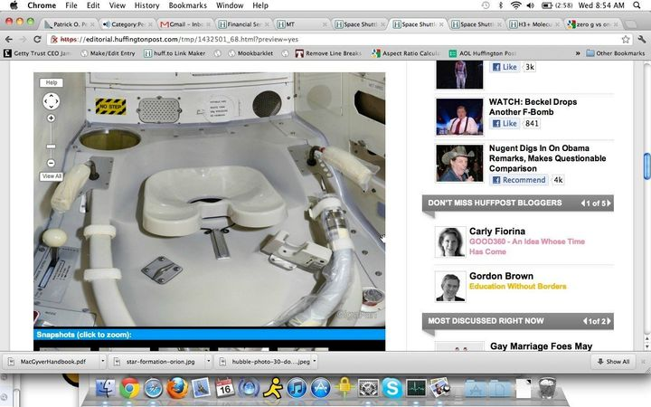 Space Shuttle Toilet More Complicated Than Terrestrial Thrones ...