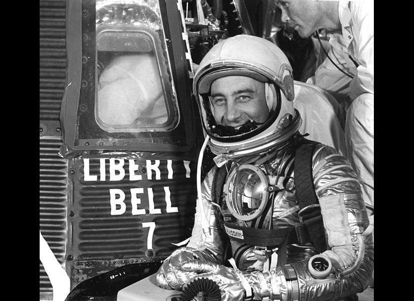 After the second manned space mission in 1961, the Liberty Bell 7 capsule was afloat in the Atlantic ocean, awaiting recovery