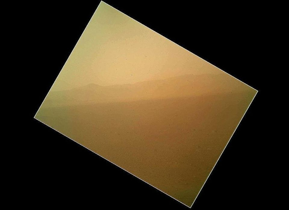 Curiosity snaps the first color view of the north wall and rim of Gale Crater, where NASA's Mars rover landed Sunday night. T