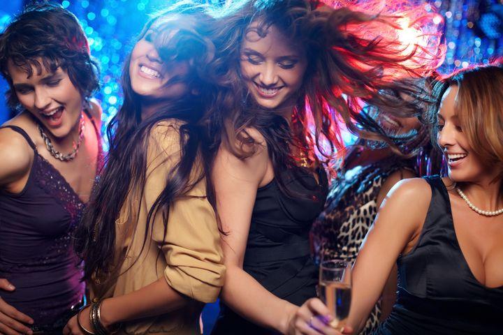 group shot of young women...