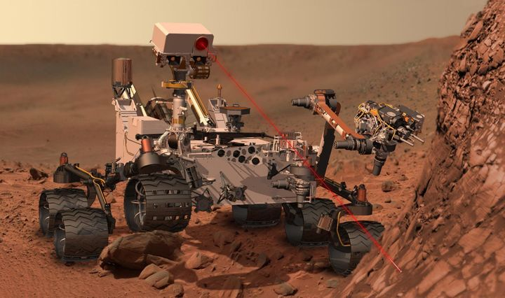 of NASA's Mars Science Laboratory mission, as it uses its Chemistry and Camera (ChemCam) instrument to investigate the compos