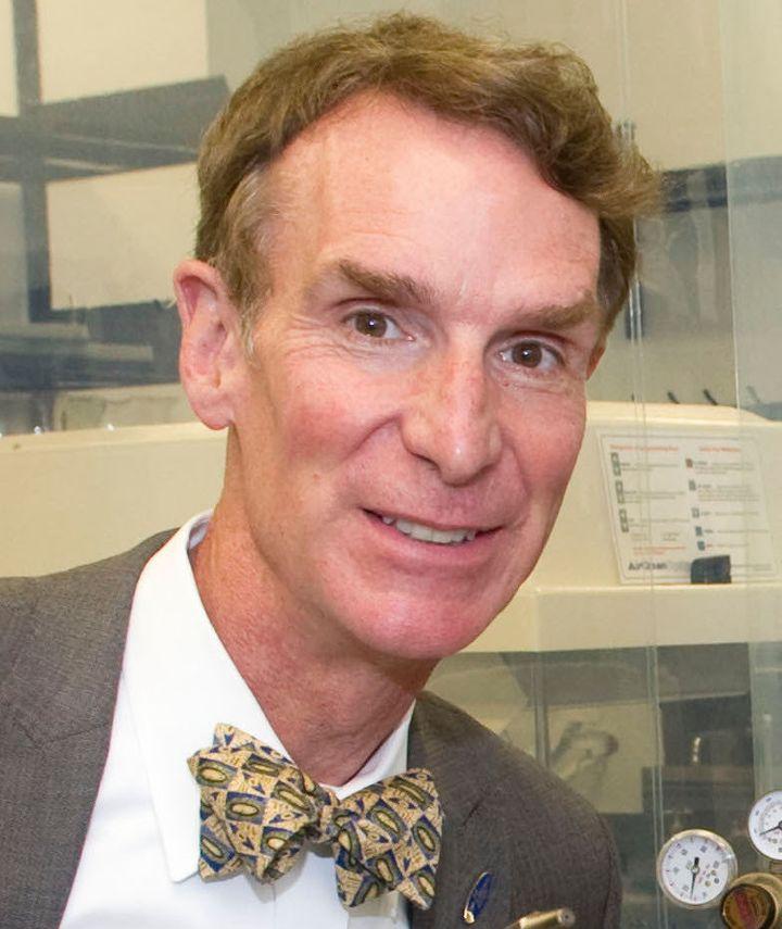 Description 1 Bill Nye at the Astrobiology Lab during a tour of Goddard Space Flight Center on September 8, 2011   Source htt