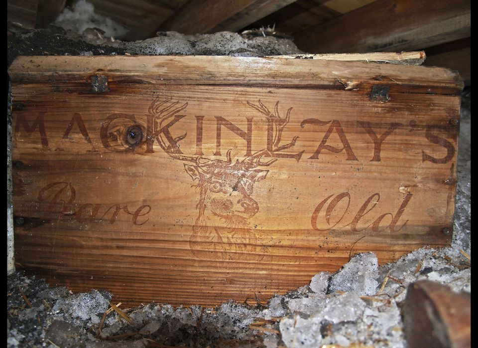 In this Feb. 5, 2010 file photo released by Antarctic Heritage Trust on Feb. 8, 2010, one of crates of Scotch whisky and bran