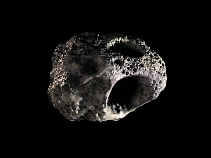 an asteroid on black background