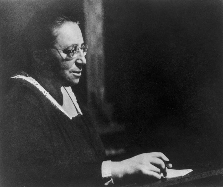 German-born mathematician Amalie 'Emmy' Noether (1882 - 1935), circa 1930. (Photo by Pictorial Parade/Hulton Archive/Getty Im
