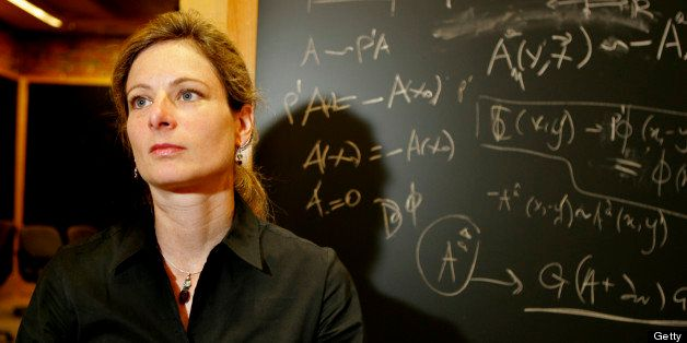 CAMBRIDGE - AUGUST 29: Lisa Randall, a Harvard theoretical physicist, at her university office in Jefferson Hall. (Photo by M