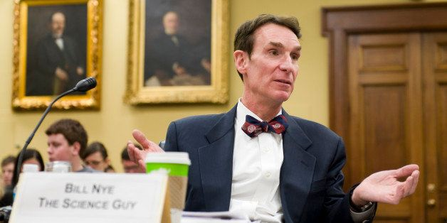 UNITED STATES - MARCH 05:  Bill Nye 'The Science Guy,' talks to another witness before the start of a House Appropriations su
