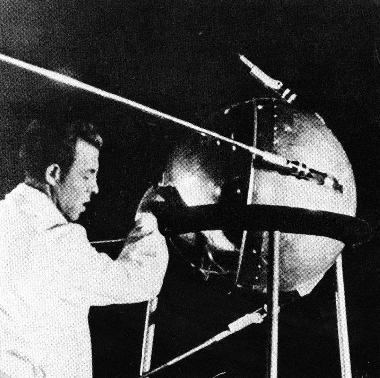 "October 4, 1957  Soviet satellite Sputnik 1 launched as the first man-made object to orbit Earth, ushering in the ""space race"