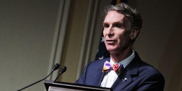 WASHINGTON, DC - NOVEMBER 12:  Bill Nye makes a few remarks at a Celebration Of Carl Sagan at The Library of Congress on Nove
