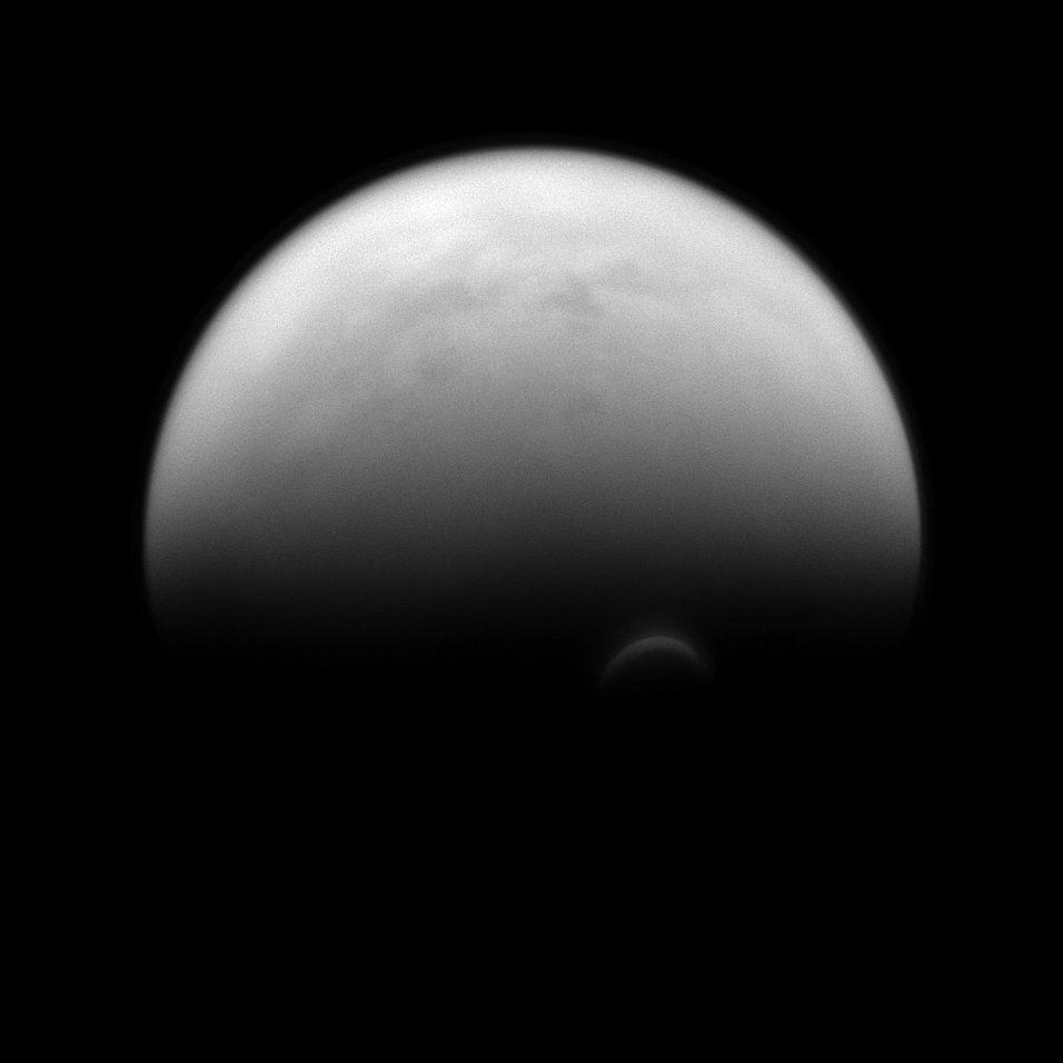 The Cassini spacecraft captured this image of Saturn's largest moon, Titan, on July 14.