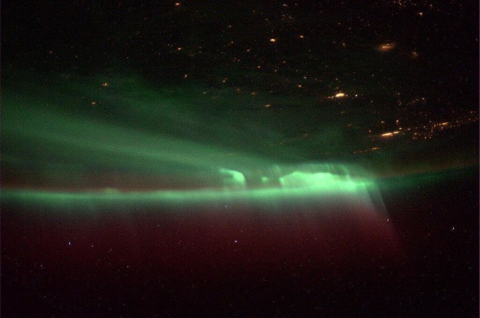 Mike Hopkins, an astronaut aboard the International Space Station, took this picture.