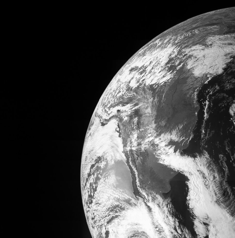 This image was captured by the Juno spacecraft on October 9. The craft used Earth's gravity to get a boost to reach its desti