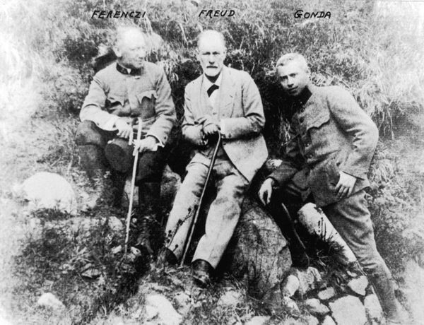 Sigmund Freud (1856-1939) in the Tatra Mountains in 1917.