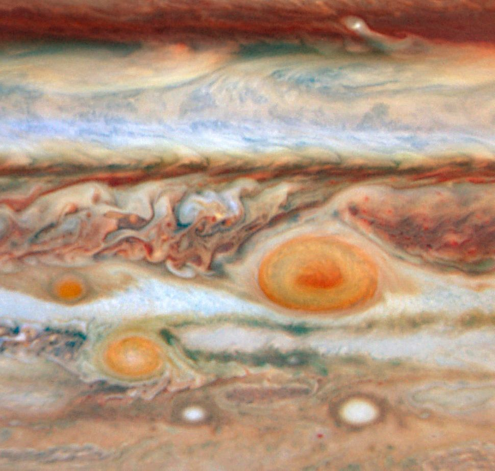 New red spot appears on Jupiter.