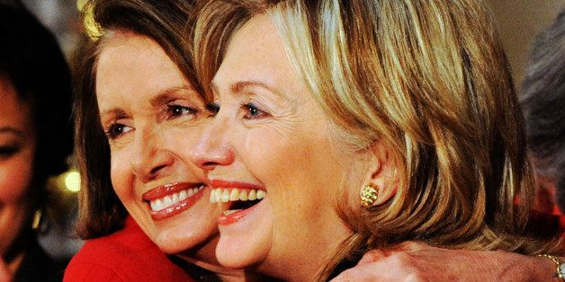 Speaker of the House Nancy Pelosi (D-Calif.)  and Secretary of State Hillary Rodham Clinton celebrate women's achievements at