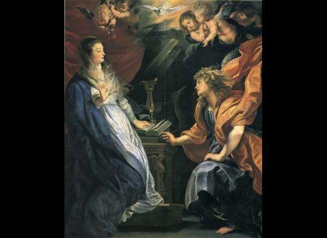 """""""Annunciation,"""" Peter Paul Rubens, ca. 1609, Kunsthistorisches Museum, Vienna, Austria"""