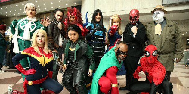 NEW YORK, NY - OCTOBER 10:  Cosplay fans attend the opening day of New York Comic Con 2013 at The Jacob K. Javits Convention