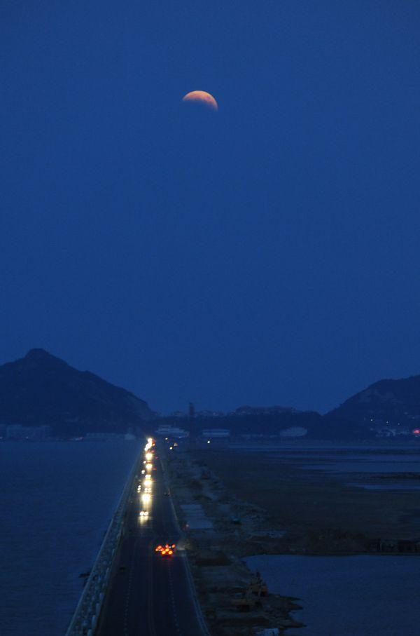 The eclipse from Lianyungang, Jiangsu province of China.