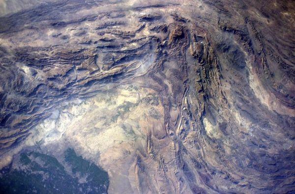 #EarthArt over Afghanistan.  Wild geology!