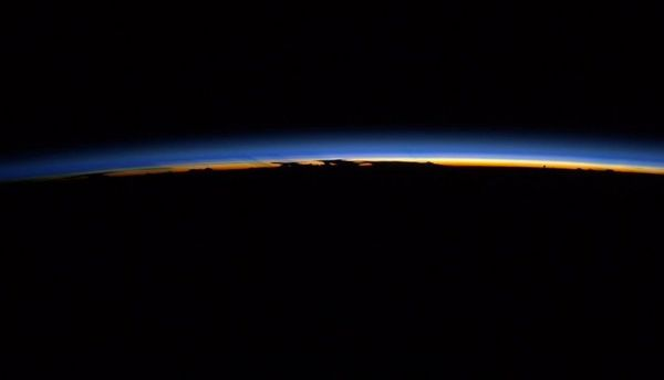 Storm clouds mingle on the horizon of #Earth and #sunset