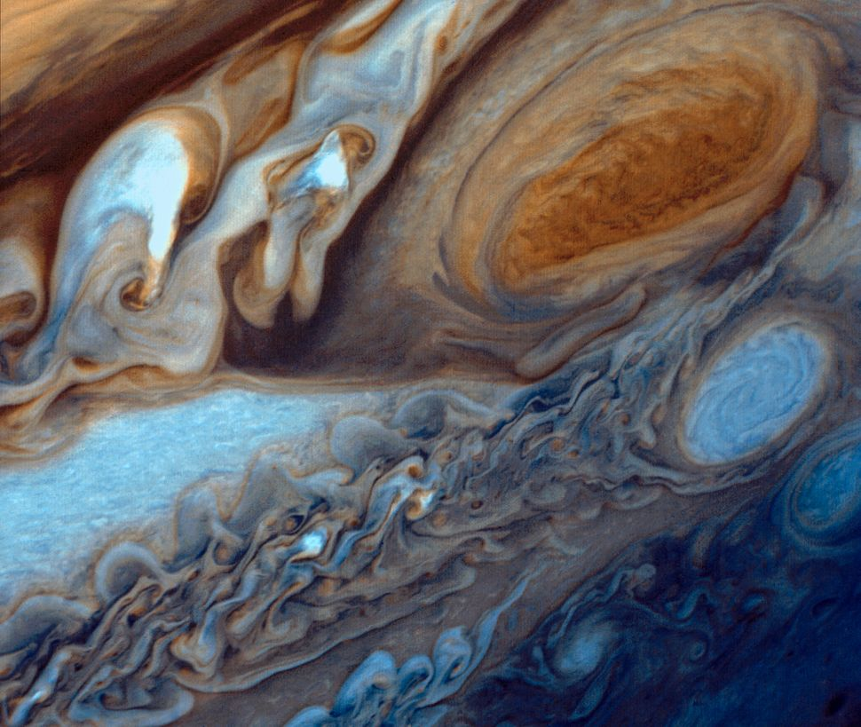 In January and February 1979, NASA's Voyager 1 spacecraft zoomed toward Jupiter, capturing hundreds of images during its appr