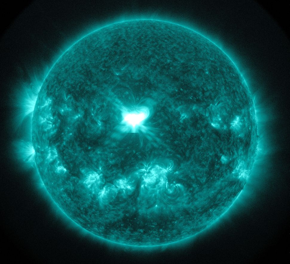 An extreme ultra-violet wavelength image of a solar flare captured on Sept. 10.