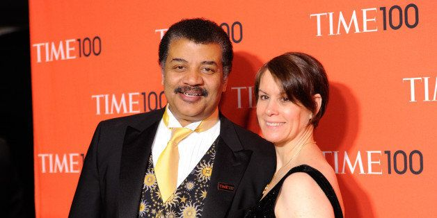 Neil deGrasse Tyson and wife Alice Young arrive at the 2014 TIME 100 Gala held at Frederick P. Rose Hall, Jazz at Lincoln Cen