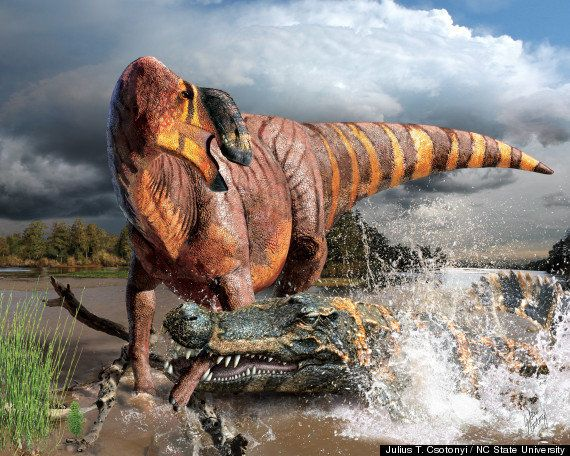 "This <a href=""https://www.huffpost.com/entry/huge-king-nose-dinosaur-rhinorex-condrupus_n_5854420?utm_hp_ref=dinosaurs"" targe"