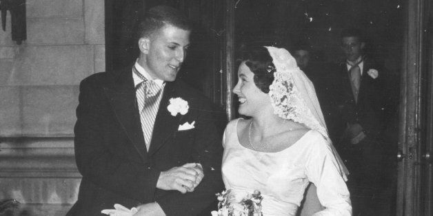 DEC 26 1959, DEC 28 1959; Newlywed Mr.and Mrs. George Beardsley leave St. Martin's Chapel Saturday following their late after