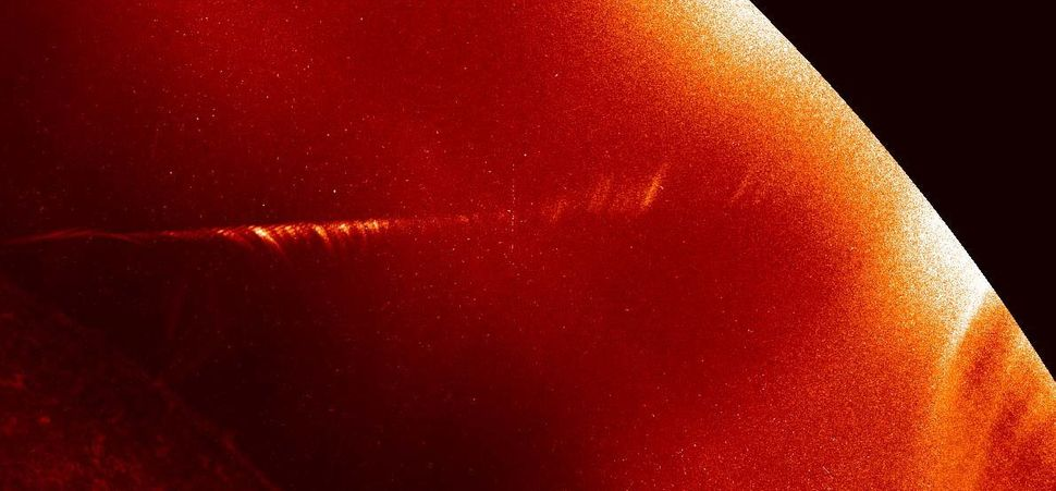 SDO captured this time-lapse photo showing Comet Lovejoy traveling around the sun in Dec. 2011.
