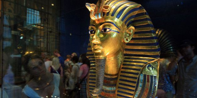 (FILES) -- A picture taken on October 20, 2009 shows King Tutankhamun's golden mask displayed at the Egyptian museum in Cairo