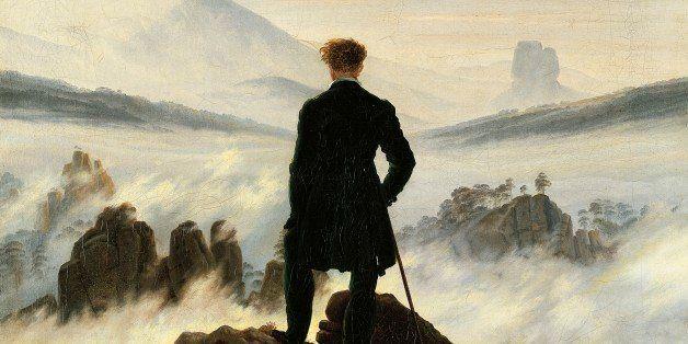 GERMANY - CIRCA 2002:  Wanderer above the sea of fog, by Caspar David Friedrich (1774-1840). (Photo by DeAgostini/Getty Image