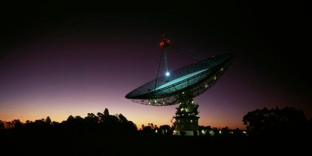Parkes Radio-Telescope at night CSIRO facility, near Parkes Parkes, New South Wales, Australia. (Photo by Auscape/UIG via Get