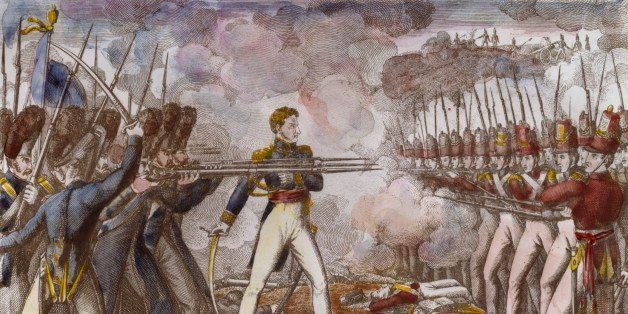 General Cambronne at Waterloo, June 18, 1815, lithograph. Napoleonic Wars, Belgium, 19th century.