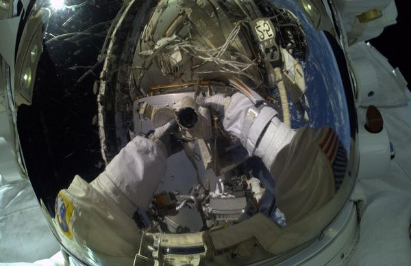 My first ever spacewalk today- AWESOME!!!