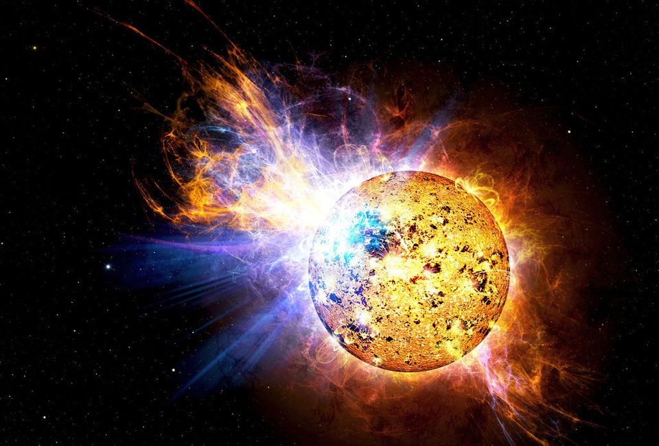 En 2008, l'étoile naine rouge EV Lacerta a produit pendant quelques heures une puissante émission de rayons X.