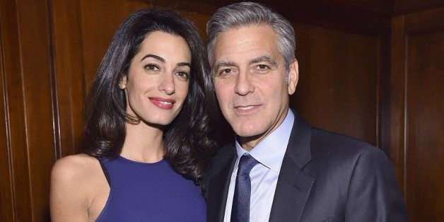 NEW YORK, NY - MARCH 10: Barrister Amal Clooney and actor George Clooney attend The 100 LIVES initiative, to express gratitud
